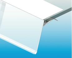6.Kaldega hinnariba klaasriiulile (mm), erinevad mõõdud ja värvi valik.