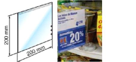 Reklaamlehe hoidjale PVC reklaamlehe tasku 200x200mm