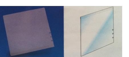 Reklaamlehe hoidjale PVC reklaamlehe tasku 145x160mm