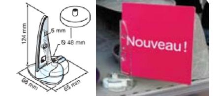 Reklaamlehe hoidja metallriiulile magnetiga