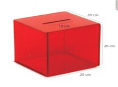 Keräysrasia, akryyli, punainen 200x200x200mm