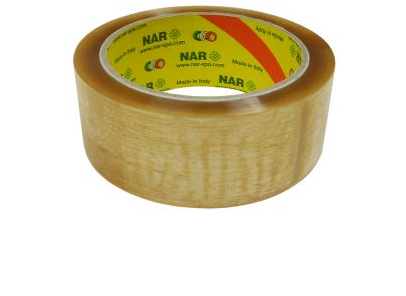 Packing tape, 48mmx66m, transparent, natural rubber / solvent